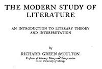 """A 1915 book by Chicago's """"Professor of Literary Theory."""""""