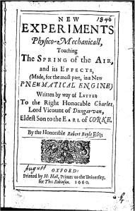 Robert Boyle's description of a controversial, leaky air-pump.