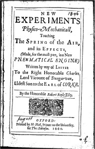 Robert Boyle's description of a controversial, leaky air-pump.