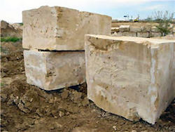 Three big blocks of stone. Like collections, these don't represent anything in particular. But the corpus you want to create might be contained somewhere within them.